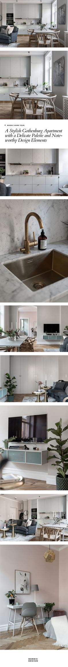 Nordic home tour: A stylish Gothenburg apartment with a delicate palette | NORDIC DESIGN
