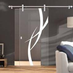 Single Sliding Door Wall Track - Salerno Oak Door - Clear Glass - Un Sliding Glass Door, Sliding Wardrobe Doors, Oak Doors, Door Fittings, Internal Sliding Doors, Room Divider Doors, Door Frame, Primed Doors, Internal Doors