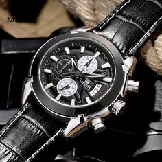 megir fashion leather sports quartz watch for man military chronograph wrist watches men army style 2020 free shipping Tag a friend who would love this!  #shop #beauty #Woman's fashion #Products #Watch