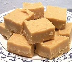 Peanut Butter Fudge ~ 2 cups sugar, 1/2 cup milk 1 tsp. vanilla, 3/4 cup peanut butter  Bring sugar and milk to a boil. Boil two and a half minutes. Remove from heat and stir in PB and vanilla.