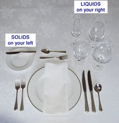 Dining Etiquette Seminars & Consulting - Place Settings