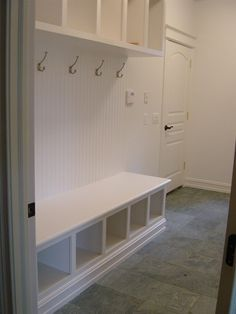 Could be a a good closet organizer idea too - I like the bench