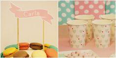 Vasos y platos de corazones de venta en: http://shop.fiestascoquetas.com