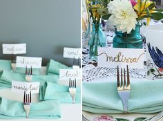 Add a personal touch to your dinner party with these DIY place card holders.