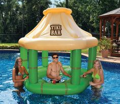Tiki Swim Up Bar w/ Ice Coolers🍹