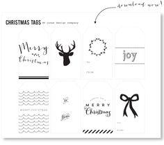 freebie gift tags - jones design company