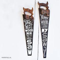 Paperfuel handlettered vintage saw