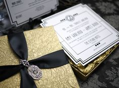 Art Deco/Old Hollywood Glam Invitation + Event Collateral