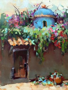 Blue Cupola by Trisha Adams Oil ~ 16 x 12 Pastel Landscape, Landscape Paintings, Mini Paintings, Landscapes, Selling Paintings, Smoke Art, Impressionist Art, Impressionism, Pretty Art