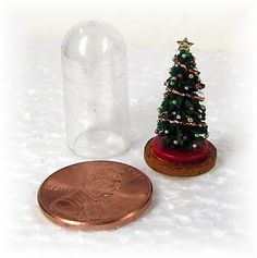 DIY: Dollhouse Miniatures: A Christmas Tree In A Dome