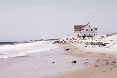 soft grey beach house