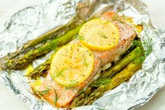 Foil Pack Grilled Salmon with Lemony Asparagus Recipe