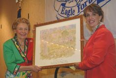 Phyllis Schlafly presents Teiro Cuccinelli with the fulltime homemaker award, 2011.