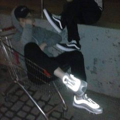 The ol shopping cart. Hey fun fact I stole one of these from target once and brought it to dungeon Tumblr Boys, Night Aesthetic, Aesthetic Grunge, Aesthetic Boy, Bad Boys, Cute Boys, Night Vibes, Grunge Photography, Teenage Dream