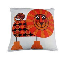cute retro lion cushion
