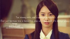 korean drama quote about love – Love Kawin Korean Drama 2014, Korean Drama Funny, Korean Drama Quotes, Drama Korea, Beautiful Love Quotes, How To Feel Beautiful, Love Rain Quotes, Love Rain Drama, K Quotes
