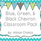 I created this pack to re-decorate my own classroom and loved it so much I thought I'd share. The theme is chevron with blue, light blue, lime gree...