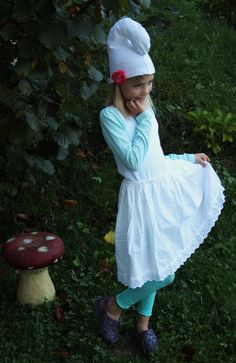 costume smurfette-schtroumpfette :)
