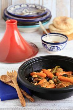 Tajine de pollo con verduras - Chicken and vegetables Tagine - No quieres caldo?...Pues toma 2 tazas