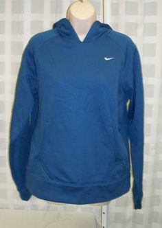 Nike Therma-Fit Juniors/Womens Slate Blue Hoodie Sweat Shirt Size Large 12-14 Listed on eBay starting at $0.98