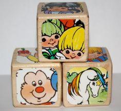 Rainbow Brite  Childrens Wooden Decorative Blocks by Booksonblocks, $14.00