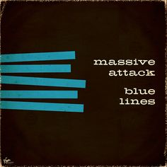 Massive Attack - Blue Lines redesign by jprochester.