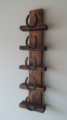 Rustic Horseshoe Wine Rack by Route66Rustics on Etsy