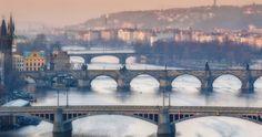 bridges of prague prague 4k ultra hd wallpaper