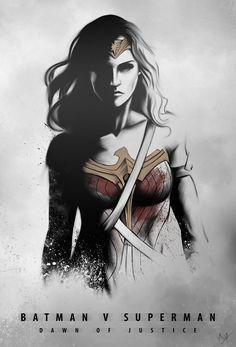 Batman v Superman: Dawn of Justice // artwork by Nimesh Niyomal (2014)