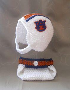 Auburn University Inspired Crochet Baby Football by CDBSTUDIO, $41.99