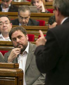 """Junqueras: """"No ho podran impedir: el dret internacional avala que els catalans hem de votar"""" - Diari Ara, 10/04/2014. El procés sobiranista ha entrat en una nova fase després del no del Congrés a la consulta. El Govern i els partits pel dret a decidir busquen ara un nou marc jurídic que permeti convocar la consulta el 9-N. A banda de la llei de consultes que està tramitant el Parlament, Artur Mas es va referir aquest dimecres a la sessió de control del Parlament que buscaran """"marcs legals""""."""