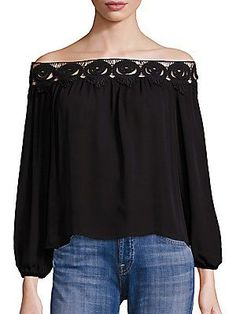 Stone Cold Fox Kyoko Lace Off-The-Shoulder Top