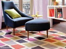 Tapis geometrie serge lesage  Joli fauteuil