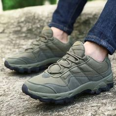 Men Hiking Shoes Cotton Blend Round Toe Lace Up Sport Running Sneakers - US$55.13