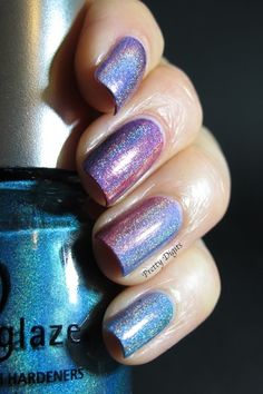 magical holographic gradient nails rainbow fairy nails...we could do this if you were at all interested...and/or toes