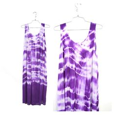 vintage purple and white tie dye dress by santokivintage on Etsy, $46.00