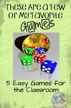 What's New? Teaching Secondary Social Studies and English with Leah: These are a Few of My Favorite Games--5 Easy Games for the Classroom