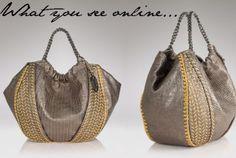 Fashion Foie Gras: Anatomy of a Bag: Elie Tahari Metallic Emmy Tote