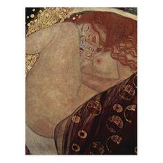 Gustav Klimt  - Danae - Beautiful Artwork Postcard - beauty gifts stylish beautiful cool