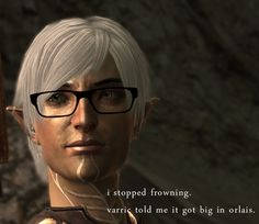 This is so wrong... Sorry Fenris, but I laughed my ass off! Dragon Age 2 Fenris