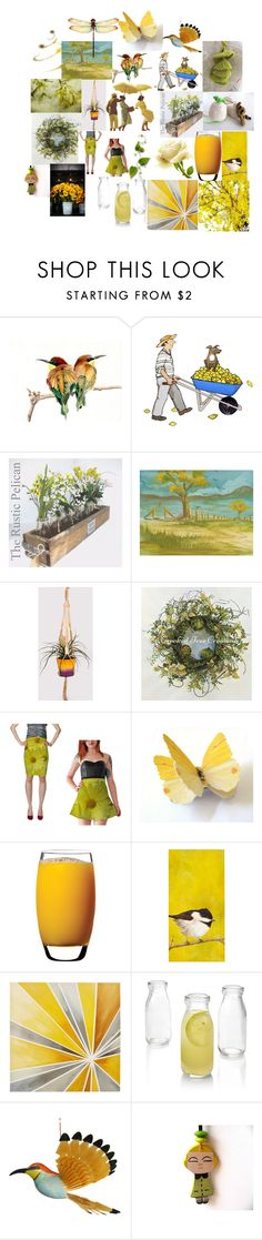 """""""Yellow"""" by talma-vardi on Polyvore featuring Luigi Bormioli, Chatham, Intelligent Design and Crate and Barrel"""