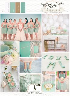 Mint & gold party wedding inspiration.  White balloons gold lame & mint green bridesmaids.