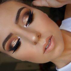 maquillage de fête paillettes eye-liner #makeup #beauty