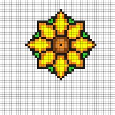 Flower Coaster Perler Bead Pattern