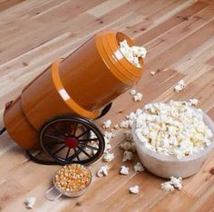The Cannon Popcorn Maker adds more fun to a worldwide favorite snack! The Cannon will shoot the popcorn right into your serving bowl. It's an air popcorn maker, so it requires no oil for prep… Kitchen Gifts, Kitchen Items, Kitchen Utensils, Kitchen Tools, Kitchen Art, Cool Kitchen Gadgets, Cool Gadgets, Cool Kitchens, Amazing Gadgets