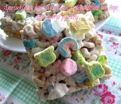 Lucky Charms Treats - Think I'll make these for the St Patty's day Brunch