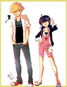 I love the first concept of the outfits, I couldn't see all the details in marinette's outfit but guess it's accurate the pink thing in her purse doesn't count