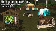 Around the Sims 3: Camping Destination Nature - 2° partie