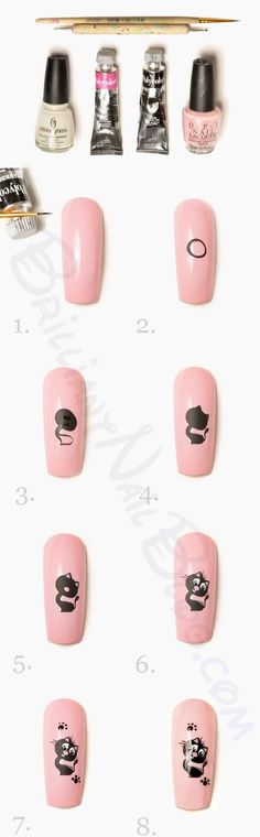 kitty cat #nailart #nails - repinned by http://www.naildesignshop.nl