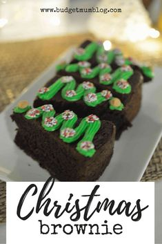 Budget Mum - Getting the best out of life with our budget Christmas Tree Food, Christmas Tree Brownies, Best Christmas Desserts, Christmas On A Budget, Cheap Christmas, Holiday Recipes, Brownie Recipes, Chocolate Recipes, Australian Christmas Tree
